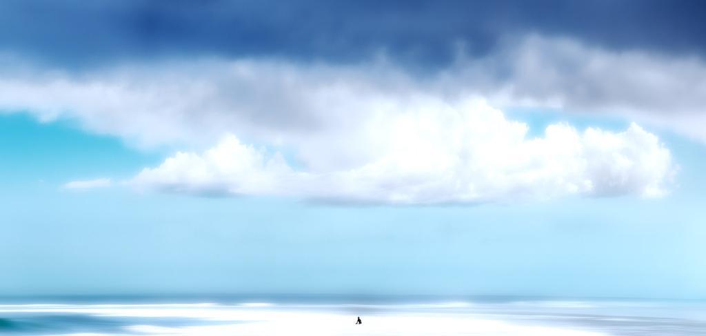 Lone surfer, Big Bay