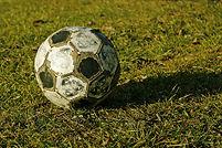 古いサッカーボール