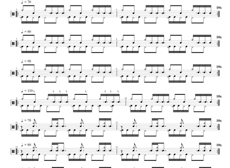 Ghost note exercises