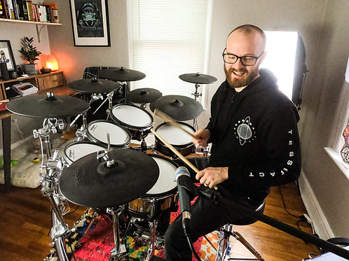 1-on-1 Drum Lesson via Skype