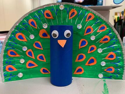 Peacock Pen Holder