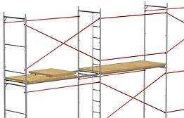 Монтаж строительных лесов этап 4