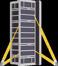 Опалубка колонн устройство