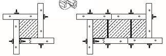 Схема формирования колонн универсальными щитами