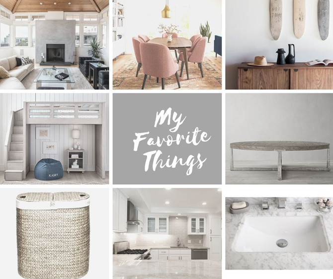 When designing your homes or staging it to sell or lease.  My favorite things!