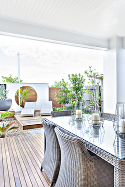 Patio area with amenities