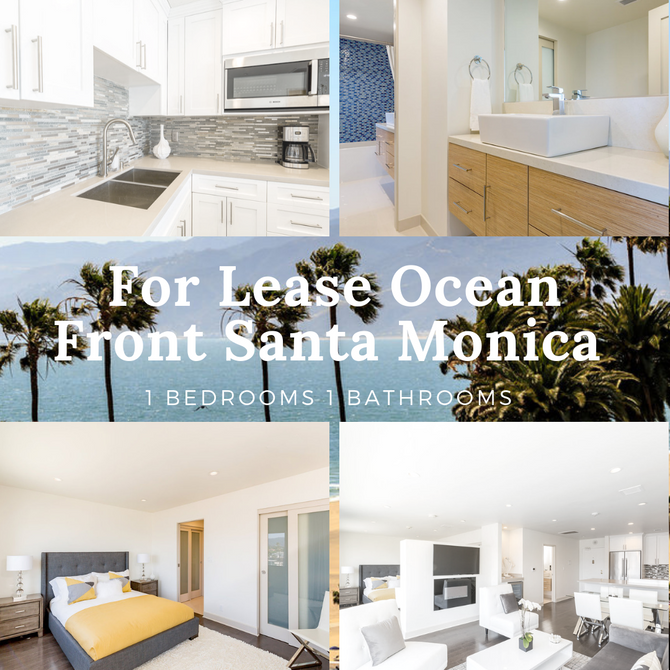 Beautiful Furnished 1 bed 1 bath on the beach of Santa Monica, For Lease   #luxury