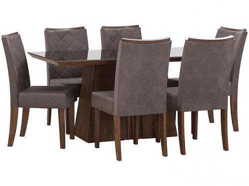 Mesa de Jantar DJ Itália com 6 cadeiras