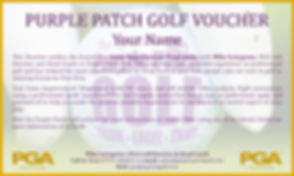 GOLF VOUCHER OXFORD