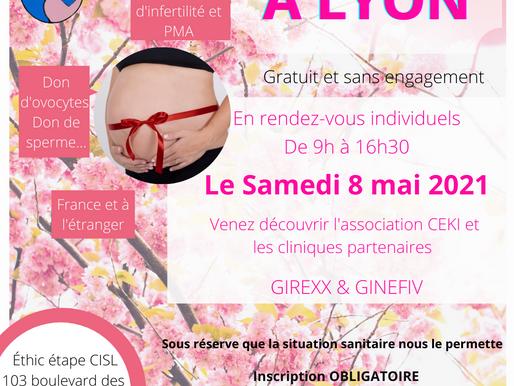 Rencontrez L'association CEKI et les cliniques Girexx et Ginefiv le Samedi 8 Mai à LYON