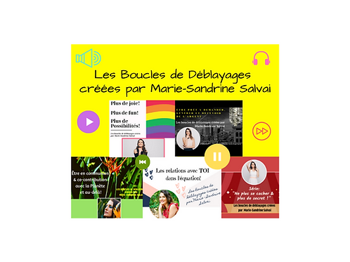 Boucles de Déblayages créées par Marie-Sandrine Salvai