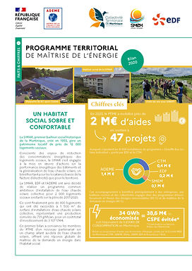 Bilan 2020 du Programme Territorial de Maîtrise de l'Energie (PTME)