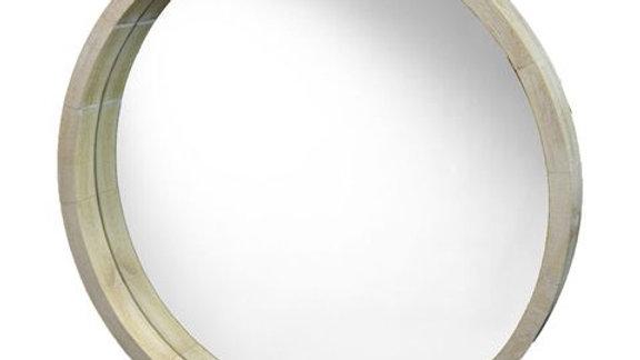Round deep rim mirror
