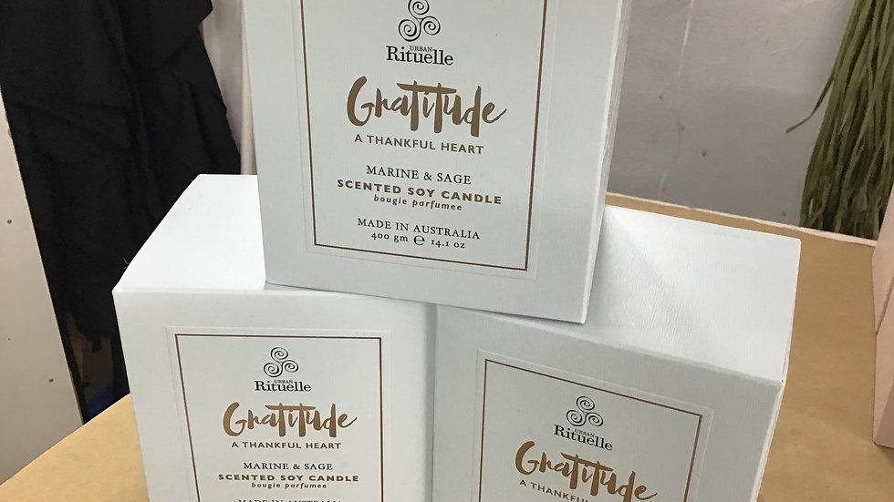 Gratitude candle large