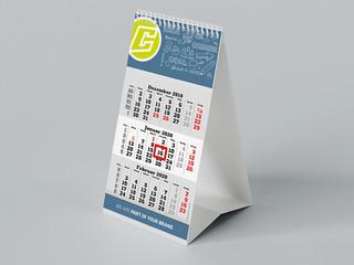 Set up desk calendars