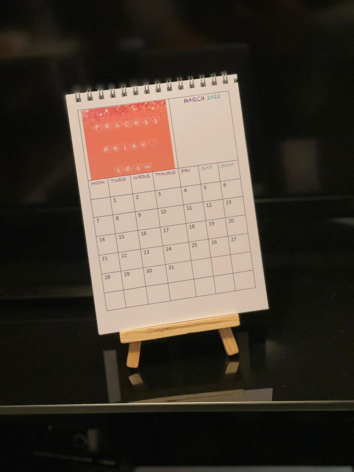 2022 Desktop Calendar My Voice In Power