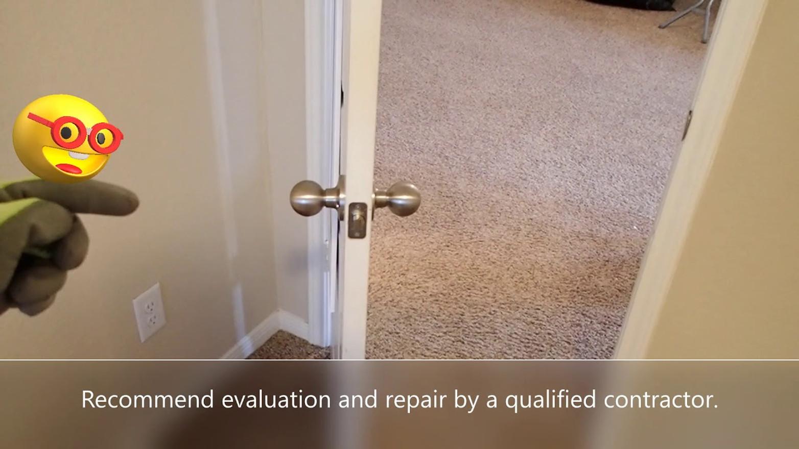 Door Swing Freely - Houston Home Inspection at Houston Texas