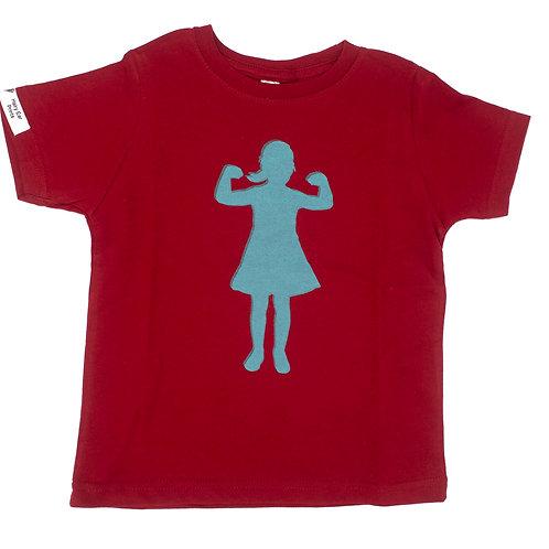 Power Girl, 100% cotton t-shirt, garnet