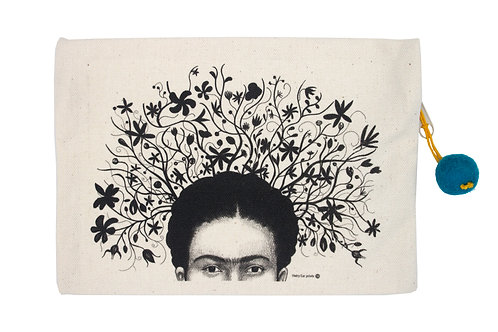 Frida with Flowers Pouch