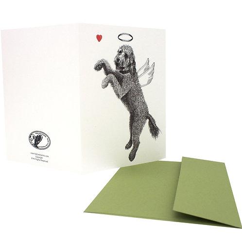 Doodle Angel, blank card