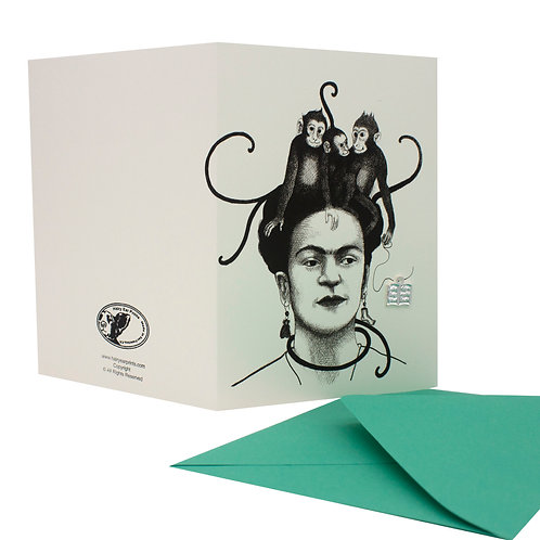 Monkeys, blank card