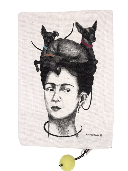 Painter with Dogs Pouch, 100% cotton