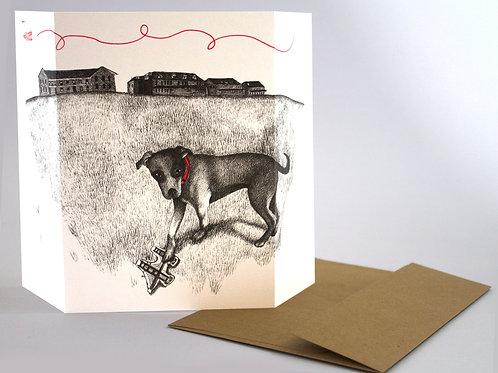 Dog & SF Presidio, blank card