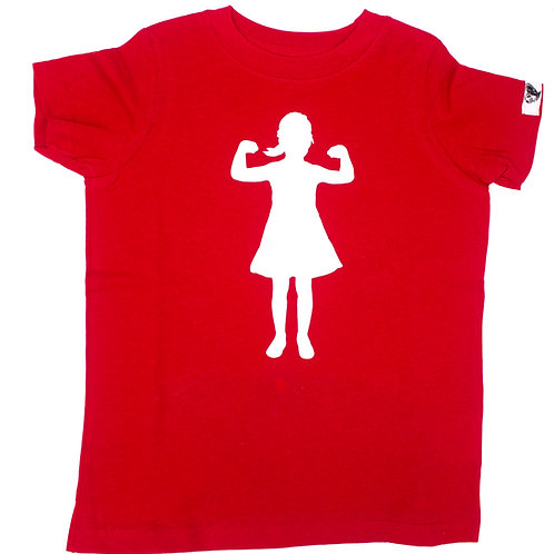 Power Girl, 100% cotton t-shirt, red