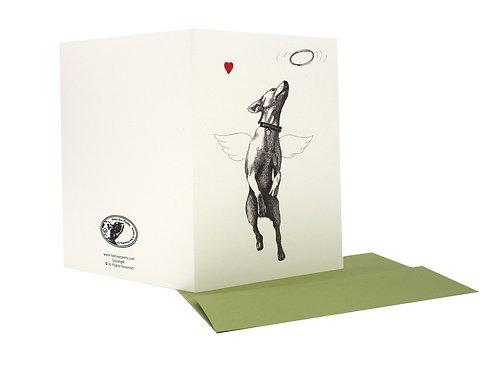 Angel Dog, blank card