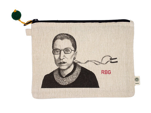RBG Pouch, 55% hemp, 45% cotton