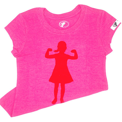 Power GirlsT-Shirt (youth), pink/red