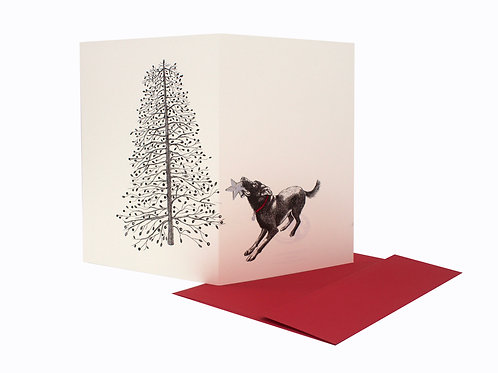 Christmas Tree, blank card