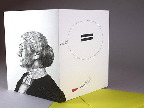 Susan B. Anthony, blank card