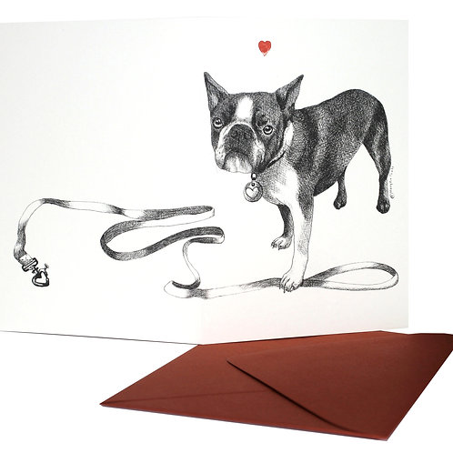 French Bulldog, blank card