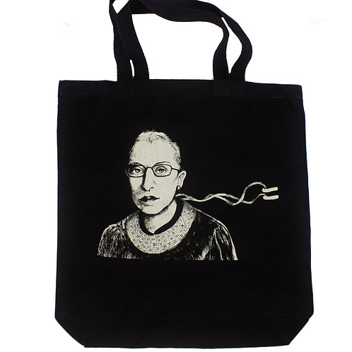 RBG Black Tote, 100% cotton