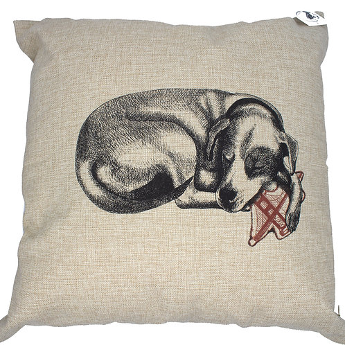 Custom Pillow, 100% linen, printed by hand