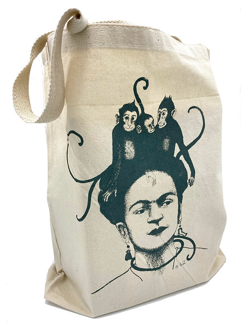Monkeys Tote, 100% cotton