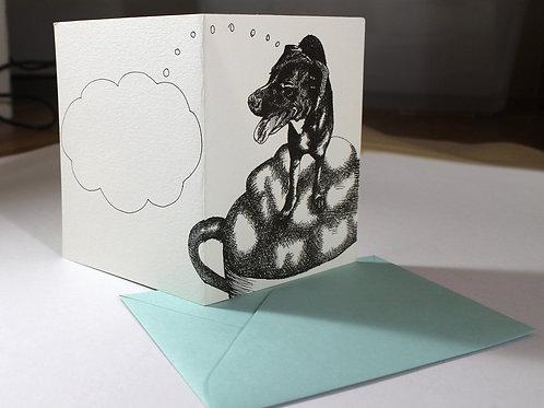 Capuchino Dog, blank card