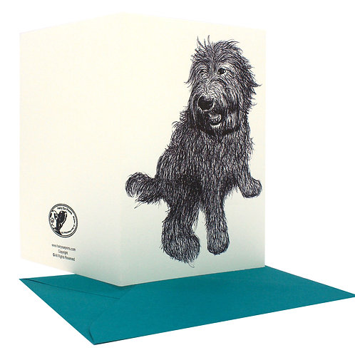 Customized cards with the family's pet, Set of 12 cards