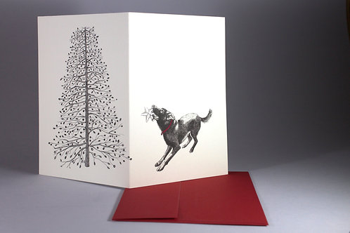 Christmas Tree Star, blank card