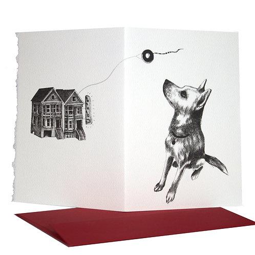 Dog and Donut, blank card