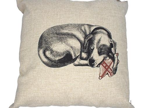 Sleeping Dog, 100% linen pillow