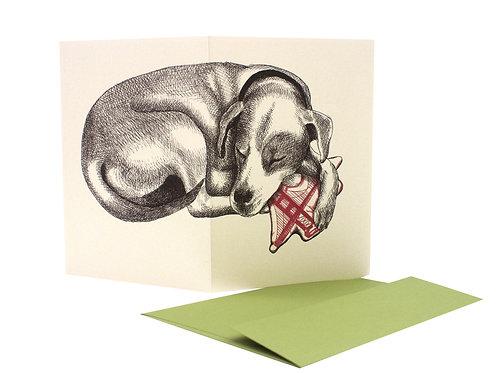 Sleeping Dog with the Bridge, blank card