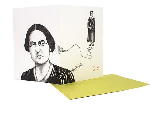 RBG & Susan B. Anthony, blank card