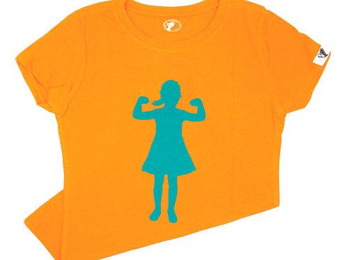 Power Girl T-Shirt (youth), orange/blue