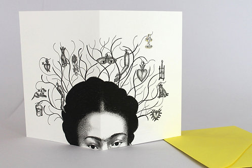 Milagros, blank card