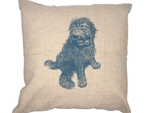 Labradoodle Pillow, 100% linen