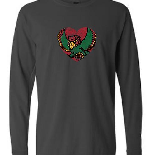 Firebird Heart Comfort Color Long Sleeve Tee