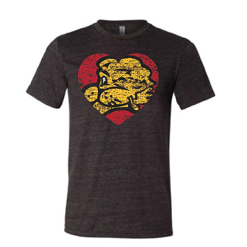 Chesty Heart Triblend Tee