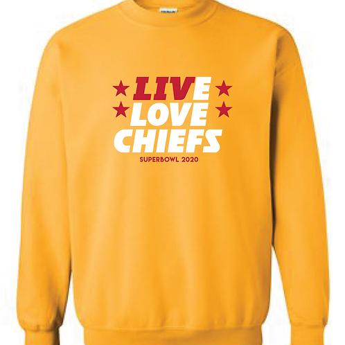 Superbowl Live Love Crewneck